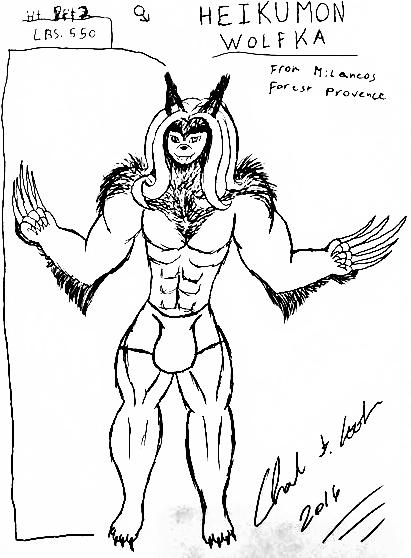 New Charicter Scketches 2 heikumon wolfka by animec20