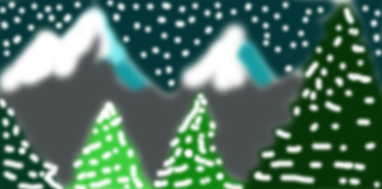 christmas mountains by animec20