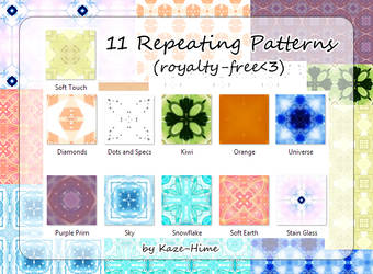 11 Repeating Patterns by Kaze-Hime