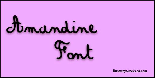 Amandine Font by runaways-rocks