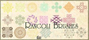 Rangoli brushes