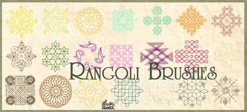 Rangoli brushes by lotus82