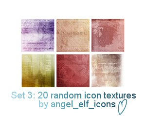 Set 3: Icon Textures by jenlynn820