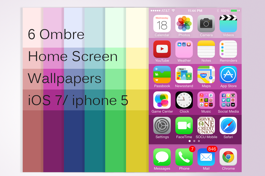 Ombre wallpaper ios 7 home screen by artastichick on for Wallpaper home screen iphone 6