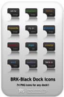 BRK-Black Dock Icons by beraka
