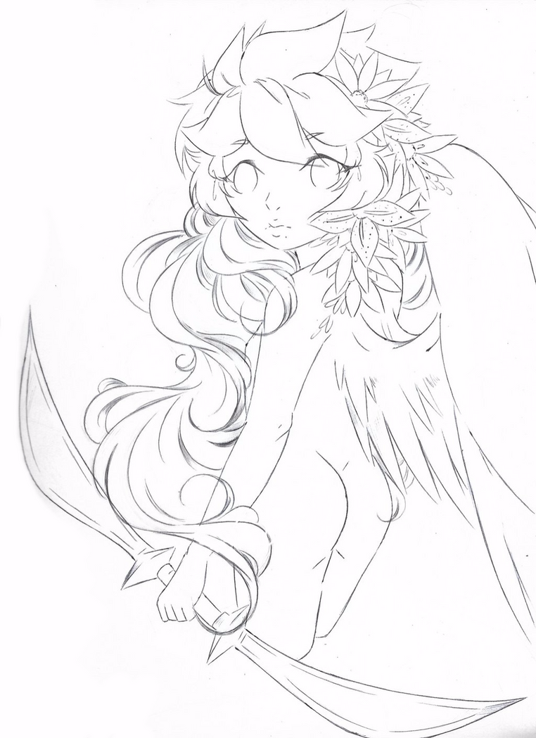 A Really Bad Lineart Of Dark Pit By Angelic Blossoms On Deviantart
