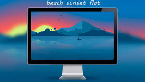 Beach Flat Wallpaper 8K