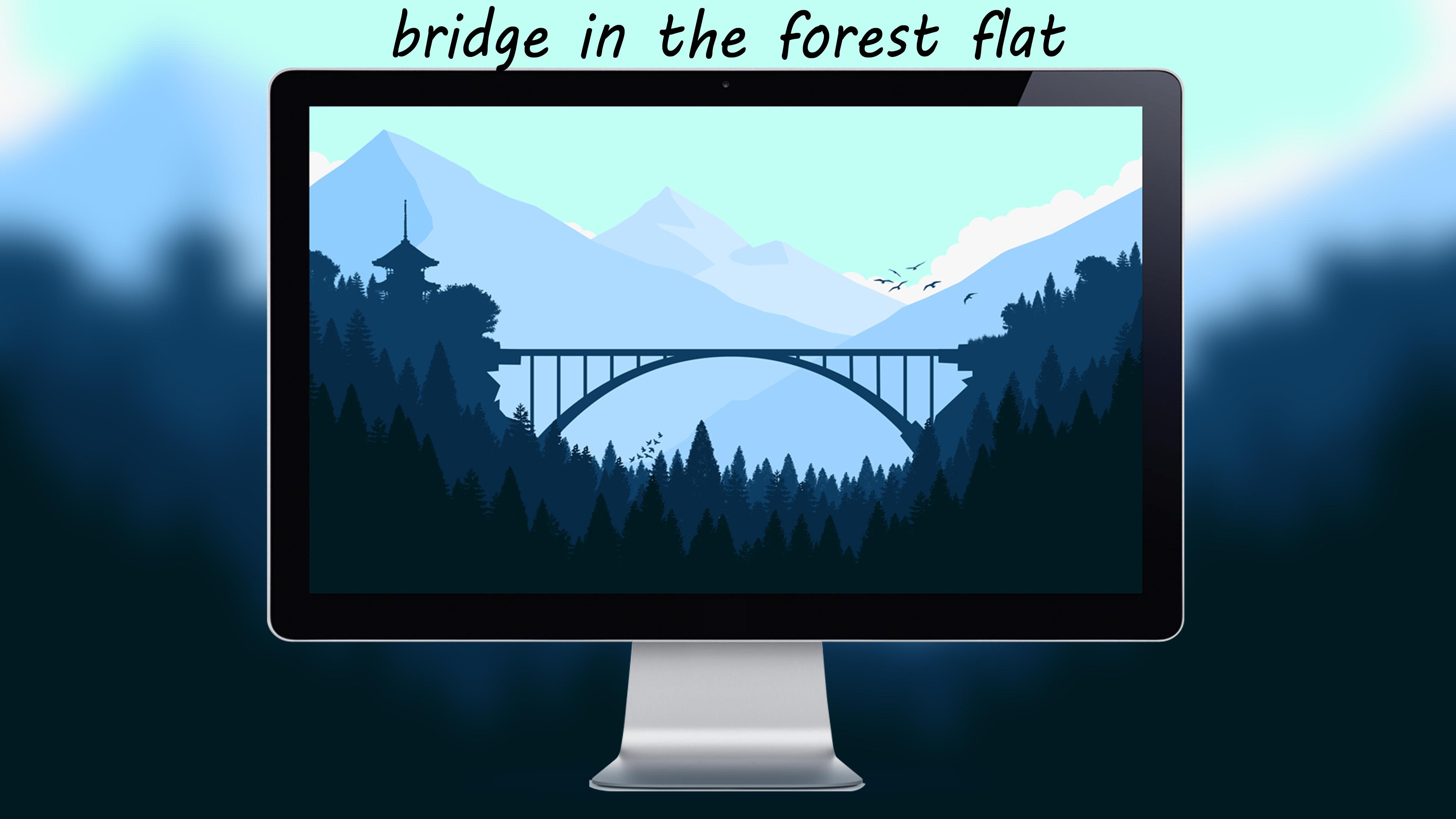 Bridge In The Forest Flat By Designuchiha by designuchiha
