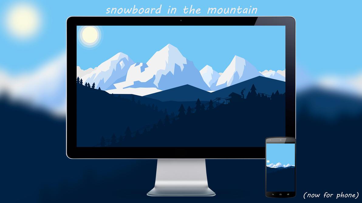 Snowbord In The Mountain By Designuchiha by designuchiha
