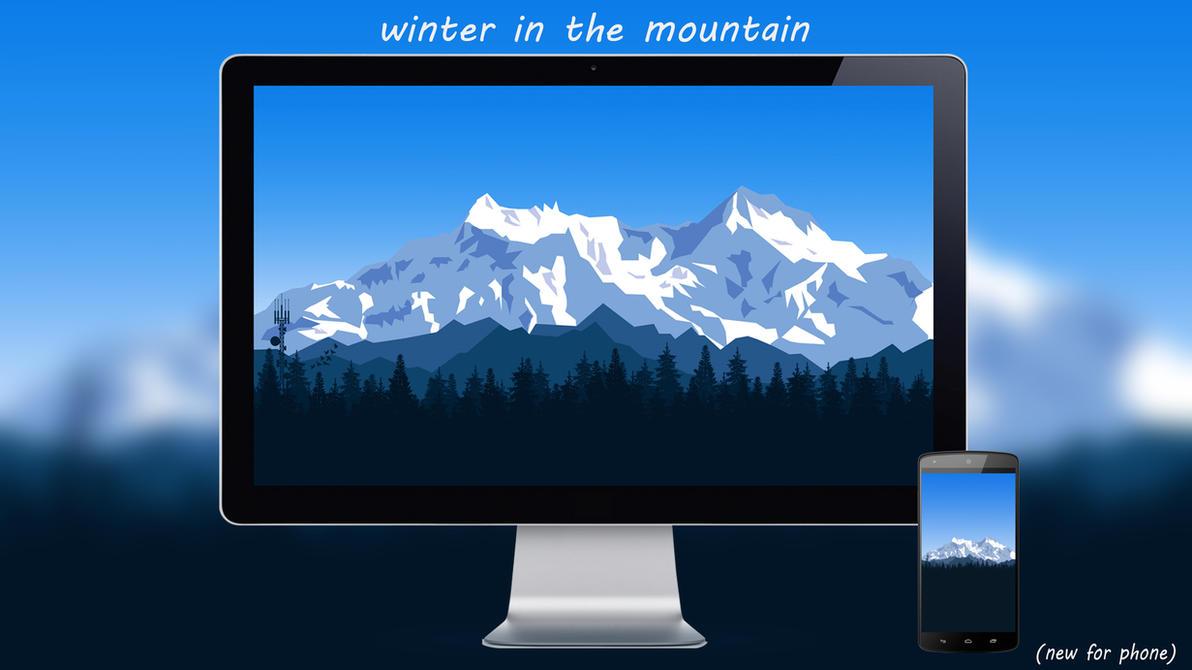 Winter In The Mountain By Designuchiha by designuchiha