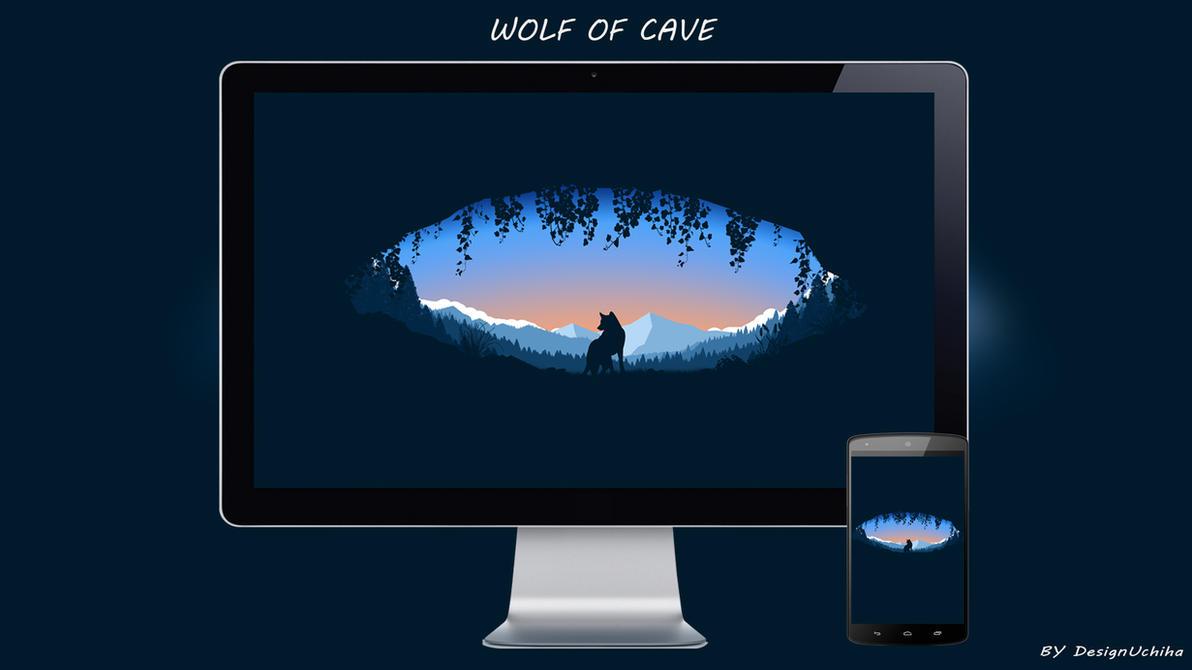 WOLF OF CAVE by designuchiha by designuchiha
