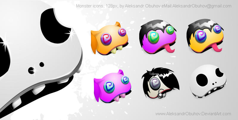 Monster icons by AleksandrObuhov