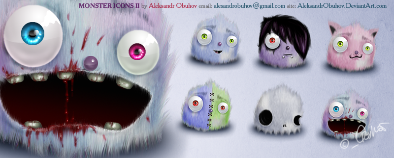 Monster icons prt 2 by AleksandrObuhov