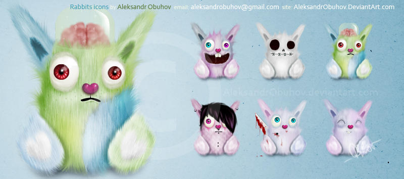 Rabbits icons by AleksandrObuhov