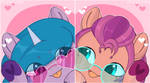 Sunny Starscout and Izzy Moonbow icons by AuroraCursed80