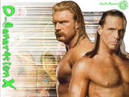 WWE Wallpaper Series 2: DX by tassie-taker