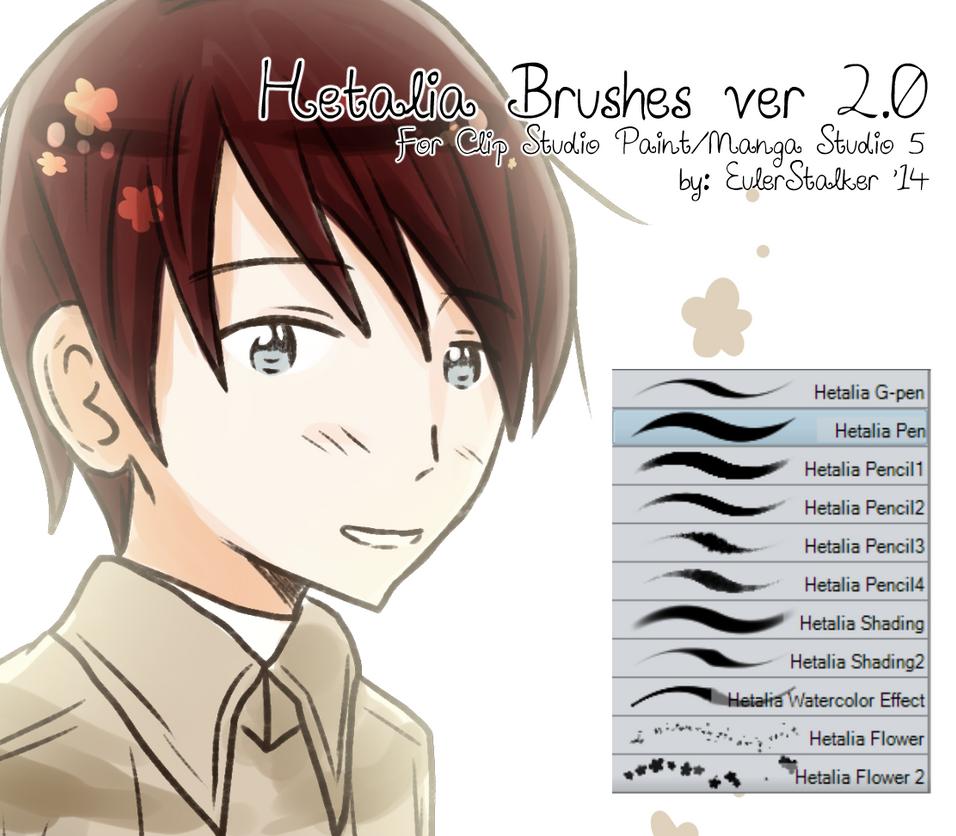 + Hetalia Brushes ver 2.0 | For MS5/CSP + by Serket-XXI