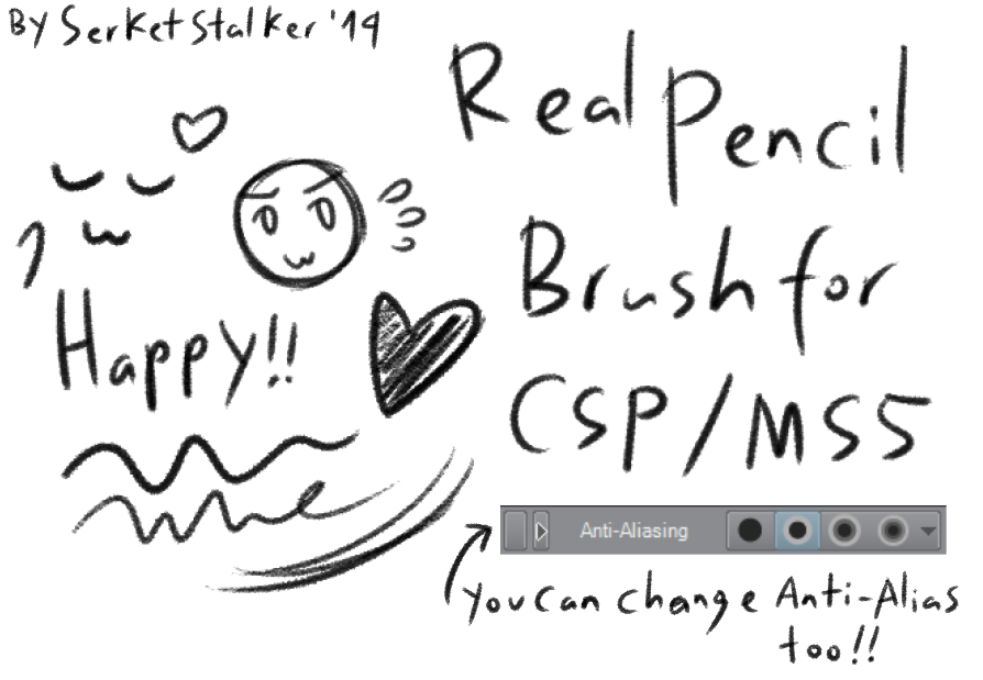 + Real Pencil Brush | For MS5/CSP +