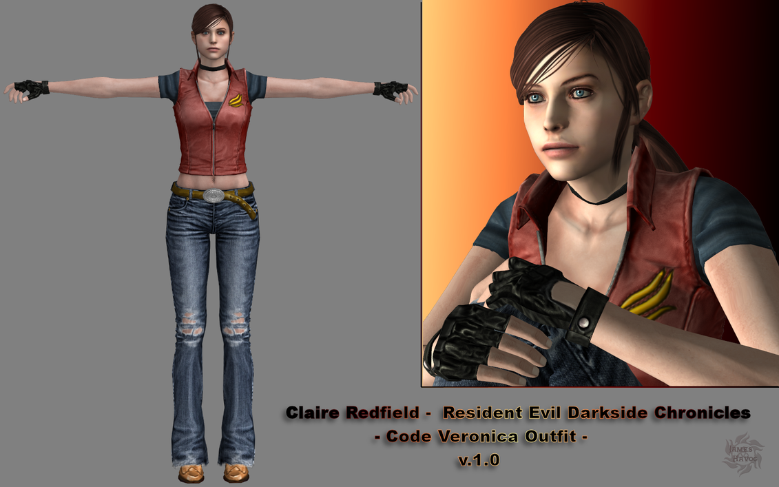 Claire Redfield DSC (Code Veronica Outfit) 1.0 by James-T-Havoc