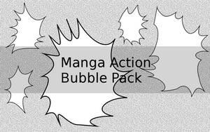 Manga action bubble pack by MoshCat13