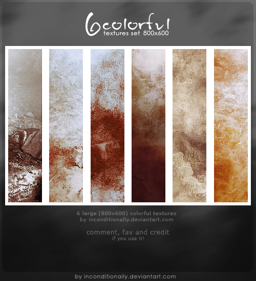 colorful 6 textures set by inconditionally