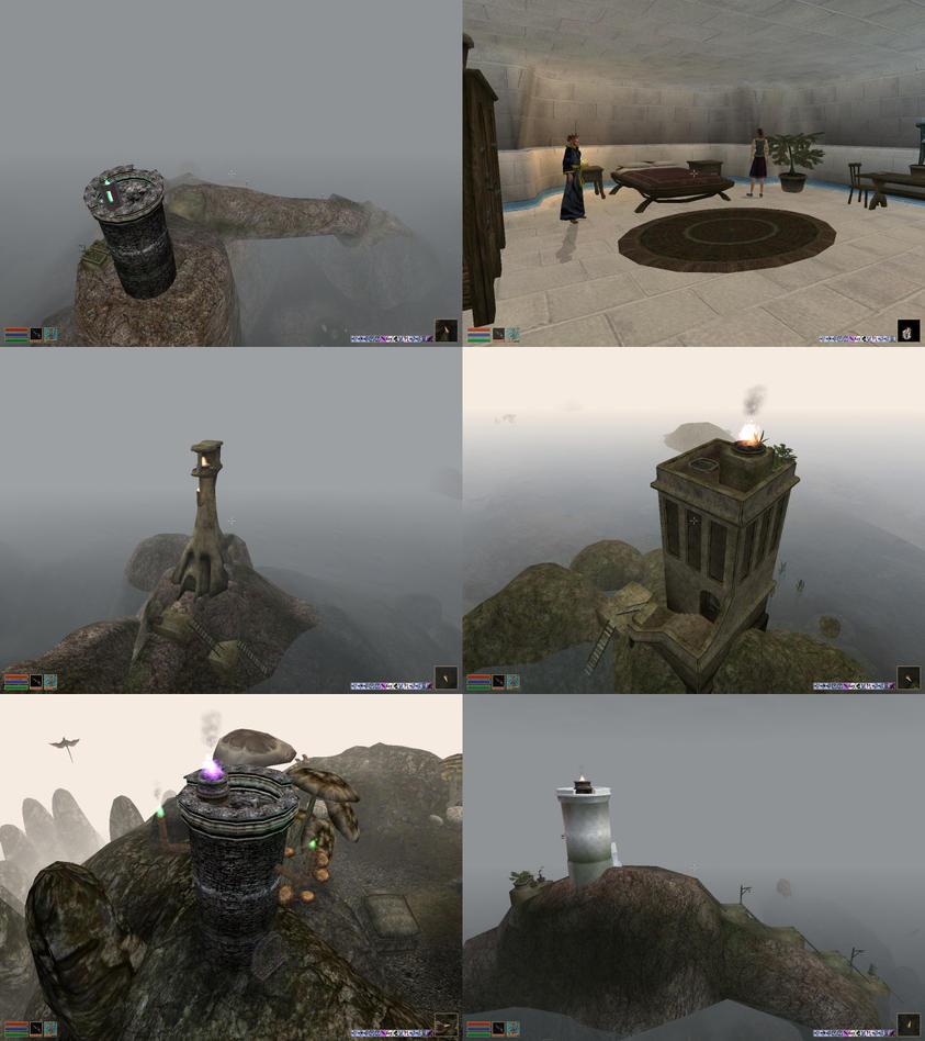 Lighthouses Of Vvardenfell by JohnK222