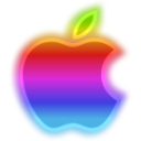 Rainbow Apple Icon by JohnK222