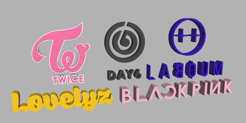 JMK's K-Pop Logo Renditions by JohnK222