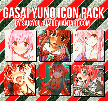 Gasai Yuno Icon Pack By Saigyou Aia