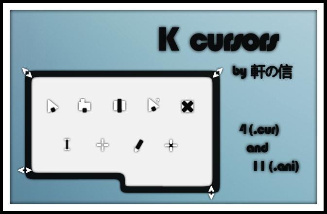 K cursor that can trainsform by Jacky-W