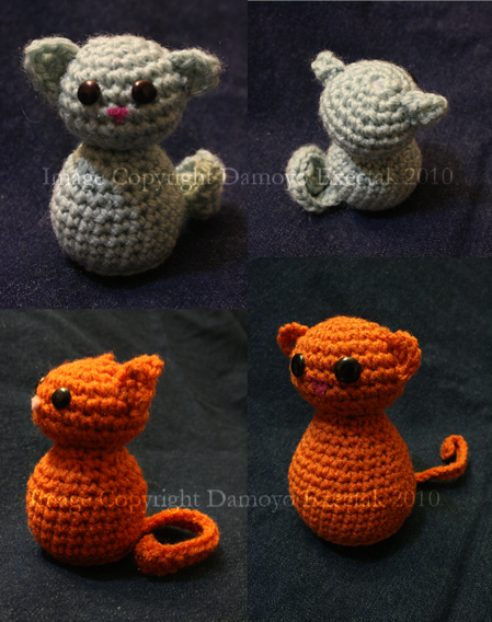 Teeny Cat Free Crochet Pattern by DamoyoExectak