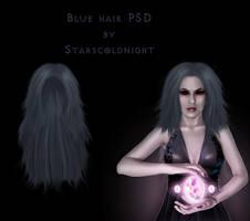 Long blue hair PSD by StarsColdNight