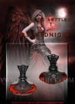 Red Gothic bottle PNG