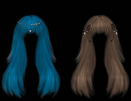 Blue and Brown hair PSD by StarsColdNight