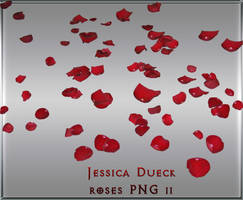 Red rose petals II