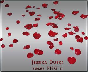 Red rose petals II