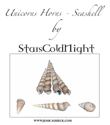 Unicorn horns - Seashell PNG by StarsColdNight