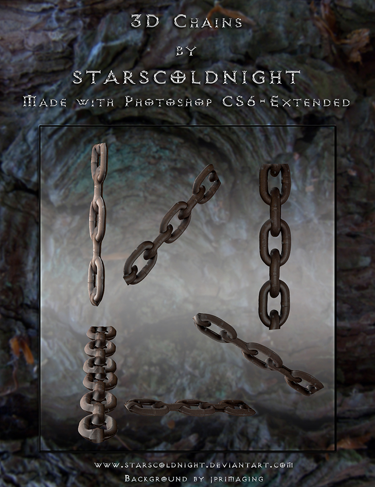 3D Chains by starscoldnight by StarsColdNight
