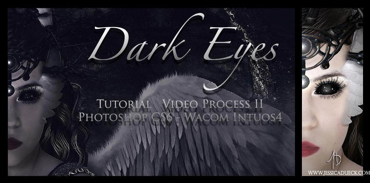 Dark Eyes Brushes and tutorial II by StarsColdNight