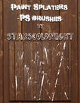 Paint Splater Brushes By Starscoldnight