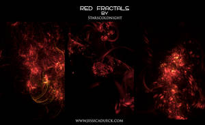 RED FRACTALS by starscoldnight by StarsColdNight