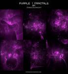 PURPLE 1 FRACTALS by starscoldnight
