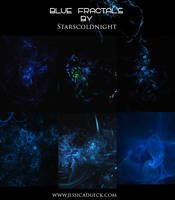 BLUE FRACTALS by starscoldnight by StarsColdNight