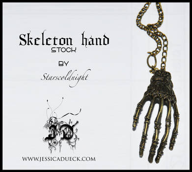 Skeleton hand stock by starscoldnight