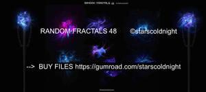 Random fractals 48 by Starscoldnight