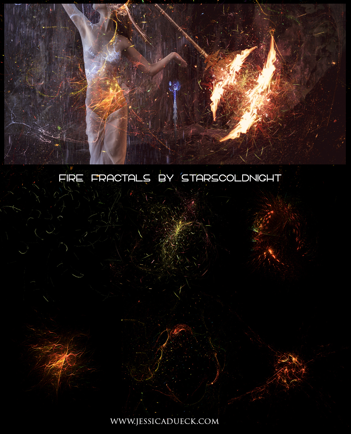 Fire sparks fractals by starscoldnight by StarsColdNight