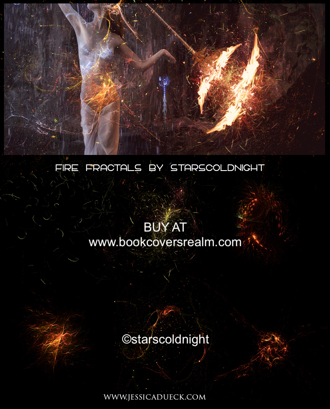 Fire sparks fractals by starscoldnight