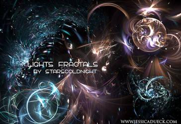 Lights fractals by starscoldnight by StarsColdNight
