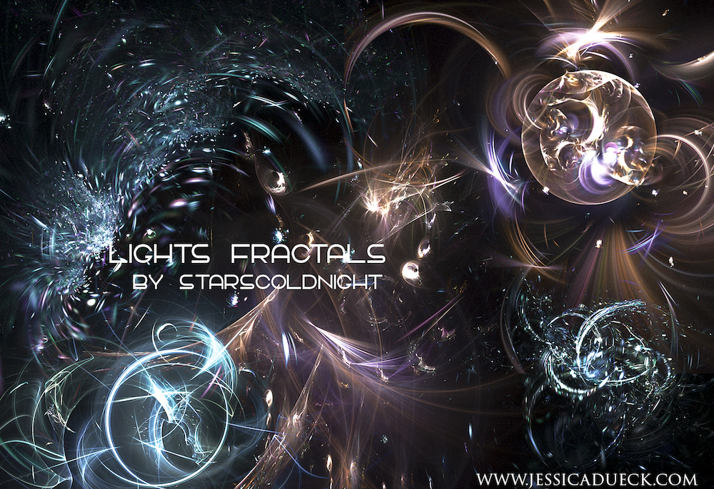 Lights fractals by starscoldnight by StarsColdNight