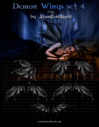 demon wings set 4 by starscoldnight by StarsColdNight